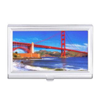 Dieses ist ein 3 Schuss HDR-Bild des Golden Gate Visitenkarten Etui