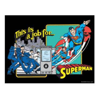 Dieses ist ein Job for�Superman 2 Postkarte