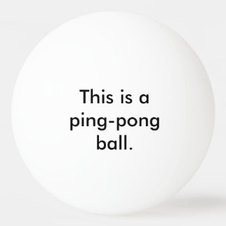 Dieses ist ein Klingeln-Pong Ball - Staat das Tischtennis Ball
