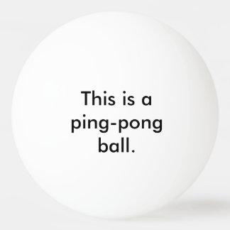 Dieses ist ein Klingeln-Pong Ball - Staat der Tischtennis Ball