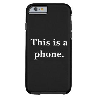 Dieses ist ein Telefon Tough iPhone 6 Hülle