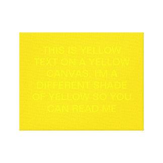 Dieses ist gelber Text auf einer gelben Leinwand