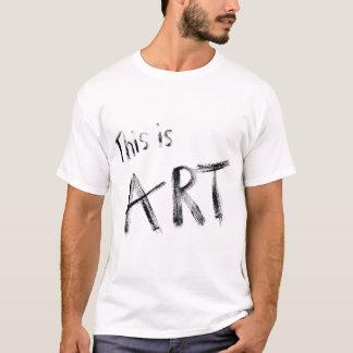 Dieses ist Kunst-T-Shirt T-Shirt