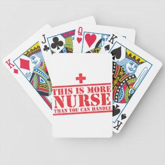 dieses ist mehr Krankenschwester, als Sie Bicycle Spielkarten