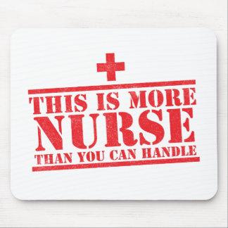 dieses ist mehr Krankenschwester, als Sie Mauspads