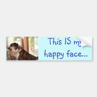"""""""Dieses IST mein glückliches Gesicht…"""" Autoaufkleber"""
