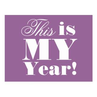 Dieses ist mein Jahr - motivierend Postkarte