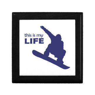 Dieses ist mein Leben (Snowboarding) Geschenkbox
