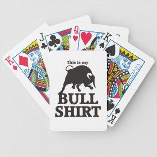 Dieses ist mein Stier-Shirt Bicycle Spielkarten
