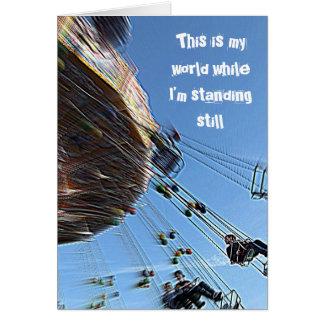 Dieses ist meine Welt, während ich noch stehend Karte
