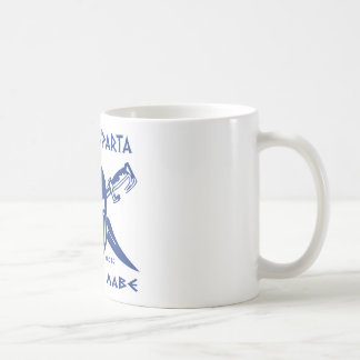 Dieses ist Sparta - Molon Lave - Blau Kaffeetasse