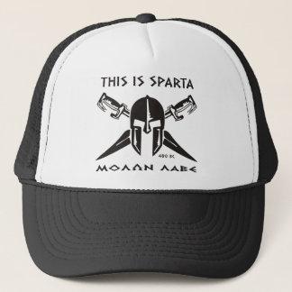 Dieses ist Sparta - Molon Lave - Schwarzes Truckerkappe