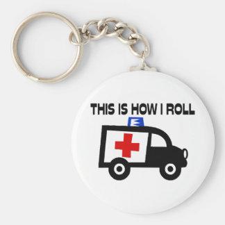 Dieses ist, wie ich in einem Krankenwagen rolle Schlüsselanhänger