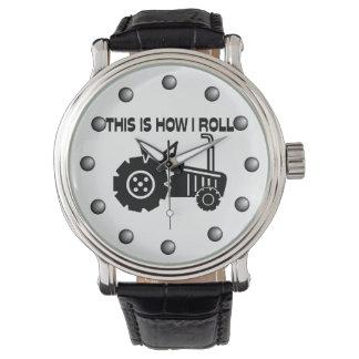 Dieses ist, wie ich Landwirtschafts-Traktor rolle Armbanduhr
