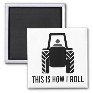 Dieses ist, wie ich Landwirtschafts-Traktor rolle Magnete