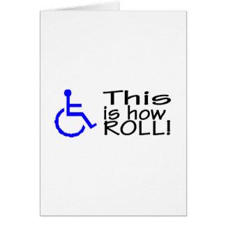Dieses ist, wie ich Rollstuhl rolle Karte