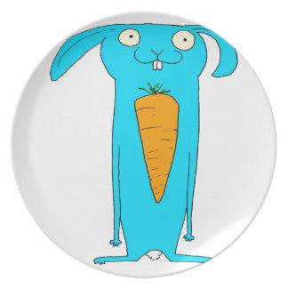 Dieses Kaninchen isst… Karotten Teller