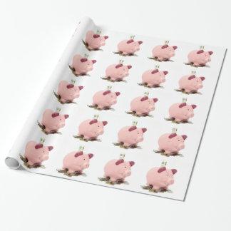 dieses kleine piggy ging zur Bank Geschenkpapier