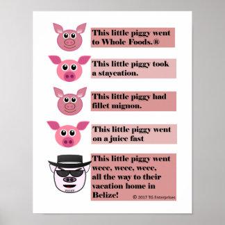 """""""Dieses kleine Piggy"""" Parodie-Plakat, 11"""" x 14"""" Poster"""