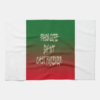 Dieses Leben-Don ` t Letzt-für immer Grün und Rot Handtücher