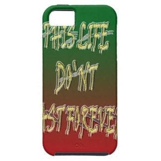 Dieses Leben-Don ` t Letzt-für immer Grün und Rot Etui Fürs iPhone 5