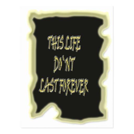 Dieses Leben-Don ` t Letzte für immer Postkarte