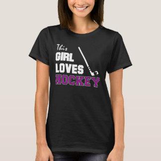 Dieses Mädchen-Liebe-Hockey T-Shirt