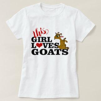 Dieses Mädchen-Liebe-Ziegen, die Cartoon-Ziege T-Shirt