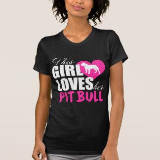 Dieses Mädchen-Lieben ihr Pitbull T-Shirt