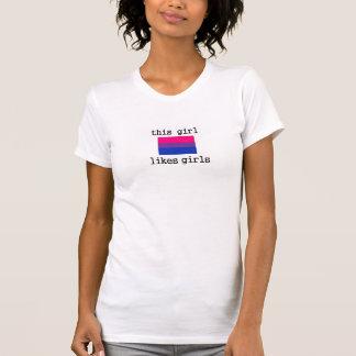 Dieses Mädchen mag Mädchenbisexual-Bi-Stolz-Shirt T-Shirt
