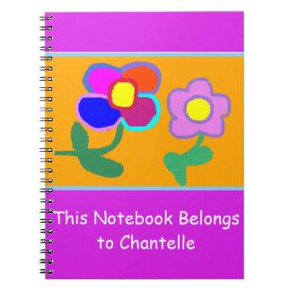 """""""Dieses Notizbuch gehört Chantelle"""" Notizbuch Spiral Notizblock"""