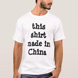 dieses Shirt hergestellt in der China