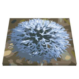 Digidesign - schottische Distel-Blume Leinwanddruck