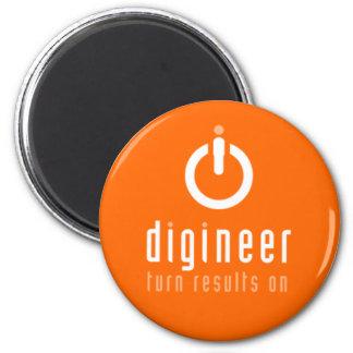 Digineer liebenswerte Magneten Runder Magnet 5,1 Cm