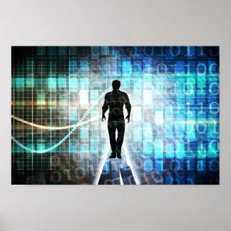 Digital-Bildung als Technologie-Konzept Backgroun Poster