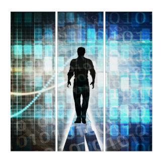 Digital-Bildung als Technologie-Konzept Triptychon