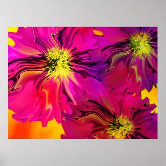 Digital-Blumenplakat Poster