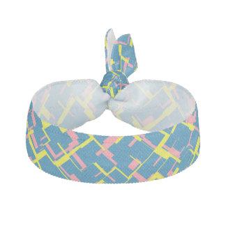 Digital-Camouflage-blaues gelbes rosa Muster Haarschleife