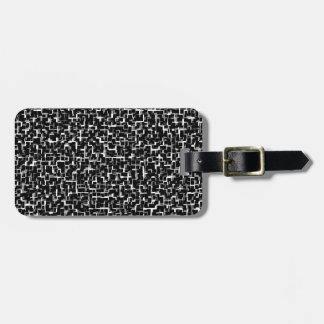 Digital-Camouflage-Schwarz-weißes gelbes Muster Kofferanhänger