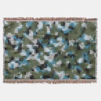 Digital-Camouflage-Winter See Decke