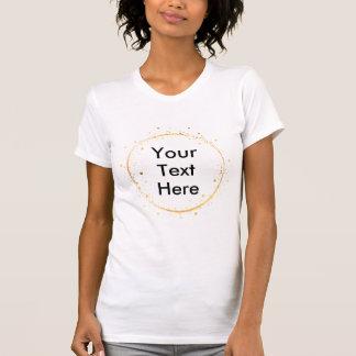 Digital, die Goldkreis zeichnen, schaffen Ihren T-Shirt