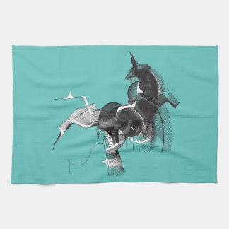 Digital-Einhorn Handtuch
