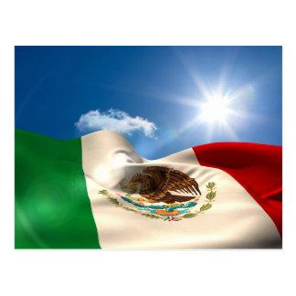 Digital erzeugtes Mexiko-Flaggen-Plätschern Postkarte