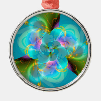 Digital flower pastell turquoise designed by Tutti Silbernes Ornament