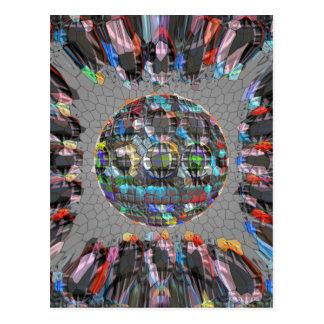 Digital gemalter künstlerischer Diamant Postkarten