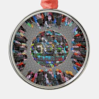 Digital gemalter künstlerischer Diamant Silbernes Ornament