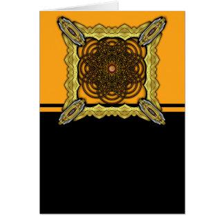 Digital gewachsene Brezel-Blume mit Choco Karamell Karte