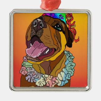 Digital-Haustier-Zeichnungen Silbernes Ornament