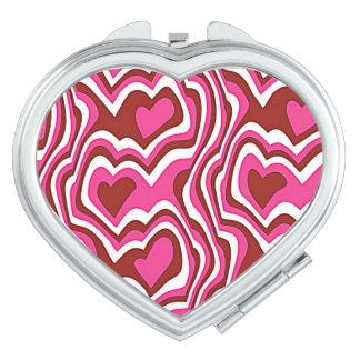Digital Heart pattern Schminkspiegel