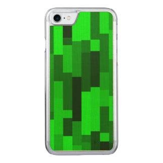 Digital-Kunst-abstrakte grüne Rechtecke Carved iPhone 8/7 Hülle